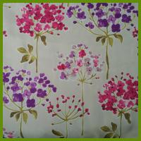 Cheap Flower design heat transfer printed tablecloth made of 100% polyester table decration cloth for sale