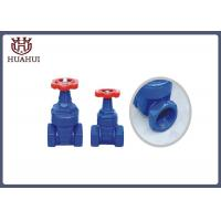 Resilient Seated BSPT Screwed Gate Valve , Cast Iron Gate Valve With Red Handwheel