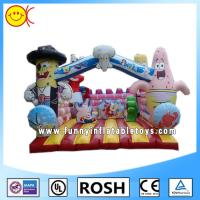 Cheap Love Cartoon Inflatable Combo Bouncers Spongebob Bouncy Castle for sale