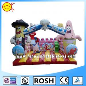 Cheap Love Cartoon Inflatable Combo Bouncers Spongebob Bouncy Castle for sale
