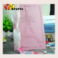 China Eiffel Tower Design Laser cut Birthday Invitation cards,Greeting Cards,Wedding Invitaiton cards free name logo on sale