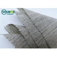 Cheap Soft Woven Wool Light Hair Bow Interlining Canvas Fabric For Garment Overcoat for sale