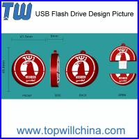 Custom Pen Drive Data Storage PVC Material Company Brand Design