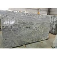 Cheap Polished Bookmatched Stone Slabs , Hard White Grey Polished Granite Slabs for sale