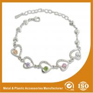 China Crystal Stone Metal Chain Bracelets Bead Charm Bracelets Jewelry on sale