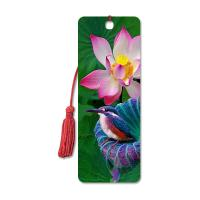 Cheap High Definition 3D Lenticular Bookmark 6 x 12 cm 4 Colors Customized for sale
