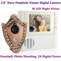 "Cheap 2.8"" LCD Screen Digital Door Peephole Viewer Camera IR LED Night Vision Home Security Door Eye Electronic Doorbell Alarm for sale"