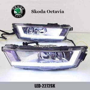 Cheap Skoda Octavia DRL LED Daytime Running Light turn light steering for car for sale