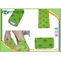 Quality Flexible Stretch Bandage Wrap For Veterinary Pet / People With Dog Paw Printing wholesale
