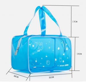 Hot Sale Transparent PVC Cosmetic Bag Vinyl Toiletry Pouch PVC Makeup Pouch Swim Beach Bag Travel Makeup Pouch