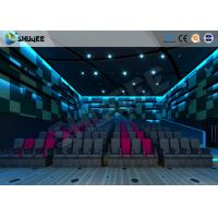Cheap Electric Pneumatic System 3D 4D Movie Theater Special Effect Black Motion Chairs for sale