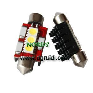 Cheap Led Festoon canbus light 3SMD5050 No Error LED Bulbs 0.8W 12Vwhite yellow red blue green amber for sale