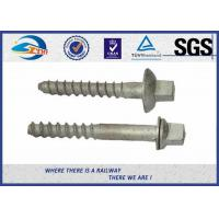 Cheap Carbon Steel Q235 Railway Sleeper Screws , Railroad Screw 5.6 Grade for sale