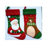 Cheap Fashion Red Christmas Stocking , Patchwork Embroidered Christmas Stockings wholesale
