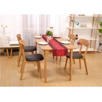 China Birch Wood Modern Square Dining Room Table , Economic Solid Wood Kitchen Tables on sale
