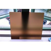 Cheap Bronze Frosted Tempered Glass 5mm For Furniture With CCC ISO CE for sale