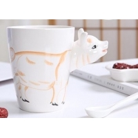 Cheap Hand Painted 11 Oz Pig 450ml 3D Ceramic Mugs for sale