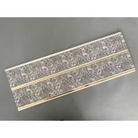 Cheap Dark Gray Printing PVC Wall Panels With Golden Lines Recyclable Material wholesale