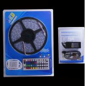 Cheap DC12V 5M LED Strip 5050 RGB,RGBW,RGBWW 60LEDs/m Flexible Light 5050 LED Strip RGB, 44-Key IR Remote Controller for sale
