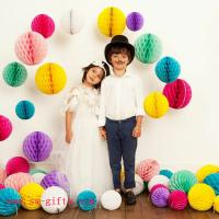 Cheap Party Wedding Decoration Paper Craft Tissue Paper Honeycomb Balls Pom Pom Flower Ball for sale