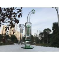 8 Fingers And Flat Diffuser Smoking Water Pipe , 12 Inches Glass Water Bubblers
