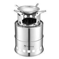 Cheap Stainless Steel Wood Burning Camping Stove With 4 Flexible Non Slip Arm for sale