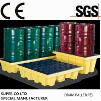Cheap Polyethylene Drum Containment Pallets For Chemical , Acids Amd Corrosives Liquid Distributed Load 1100kg for sale