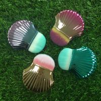 Cheap Portable Shell Shape Makeup Foundation Brush Plastic Handle Material for sale