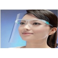 Cheap 2020 Hot Sale Anti-Fog Transparent Protective Face Shield With Glassses Frame for sale