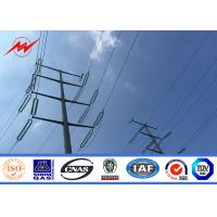 Cheap 40FT NGCP Steel Utility Pole 3mm GR65for 55KV Power Distribution for sale