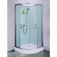 Cheap 900 x 900/800 x 800/100 x 100mm Glass Shower Room Enclosure with Aluminum Profile for sale