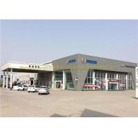Cheap ASTM BS Steel Frame Structure Car Showroom Steel Structure Workshop for sale