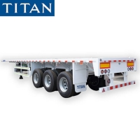Cheap (Spot Promotion) China triaxle 40ft flatbed container semi trailers price for sale for sale