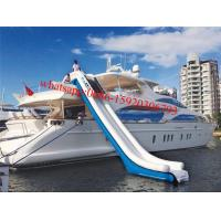 Cheap inflatable water slide for yachts , inflatable water slides for boats , inflatable boat slide for sale
