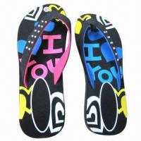 China 2013 Fashion Summer Beach Flip-flops, Made of PVC, Available in Various Colors and Designs on sale