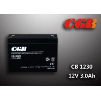 Cheap CB1230 VRLA Lead Acid Battery , Rechargeable Energey Storage AGM Battery 12V 3AH wholesale