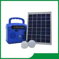 Buy cheap Mini solar energy system with radio, 2pcs led lamp, cell phone charger, portable from wholesalers