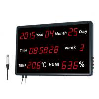 Buy cheap Time Date Digital Thermometer And Hygrometer With Wall - Mounted Big LED Screen from wholesalers