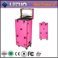 China LT-MCL0002 aluminum beauty  makeup cosmetic case makeup case with lighted mirror on sale