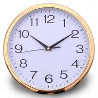 "Cheap 12"" plastic wall clock,quartz sweep movement,without tick tock sound for sale"