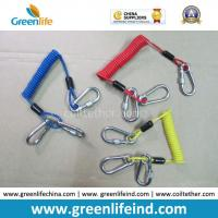Cheap Customized Carabiner Colorful Tool Coiled Tether Cords for sale