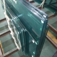 Buy cheap SGCC standard Clear tempered 13.52mm PVB film laminated safety framelsess glass from wholesalers