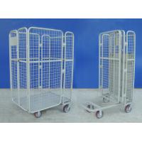Cheap Supermarket Wire Mesh Cart Durable Galvanized Rolling Hand Trolley Cart for sale