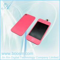 Cheap HOT seller!!!Pink LCD Digitizer for iPhone 4s with Back Cover in Low Price for sale