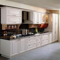 Cheap White PVC Formed Integral Kitchen Cabinet, Comes in Korea LG Film for sale