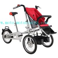 Cheap Red Baby Stroller Bike With Disk Brakes On Both Wheels for sale