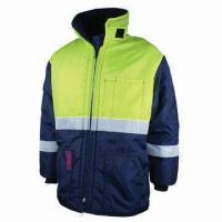 Cheap Work Winter Jacket, Strong Sewing, Made of Nylon Oxford for sale