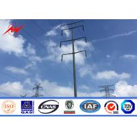 Cheap 12M Galvanized Electric Power Pole Q345 Material for 110KV Transmission for sale
