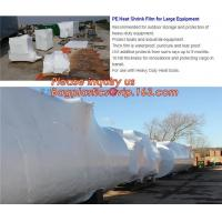 Cheap biodegradable shrink wrap 200 mic construction industrialJumbo construction industrial uv shrink wrap for yacht covering for sale