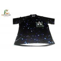 Cheap Black 3D Sublimation Custom Printed T Shirts For Club Team 100 Percent Cotton for sale